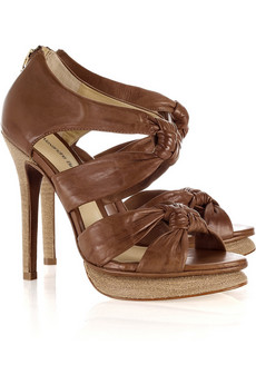 Alexandre Birman | Vitello leather knotted sandals | NET-A-PORTER.COM from net-a-porter.com