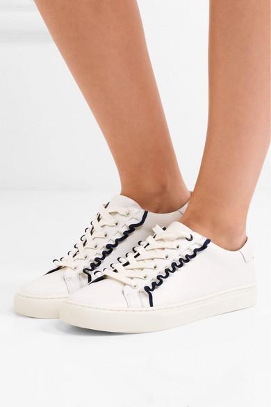 Tory Sport Sneakers aus Leder mit Rüschen