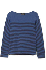 Marienere Liz striped cotton-blend jersey top