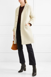 Eleven ribbed wool and mohair-blend coat