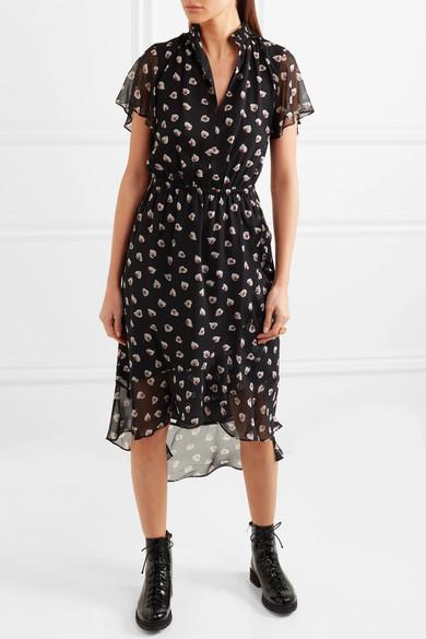 Madewell Amaryllis bedrucktes Kleid aus Chiffon