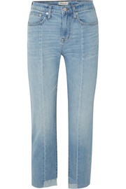 Madewell Cruiser distressed mid-rise straight-leg jeans