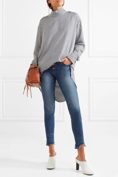 Madewell Hoch sitzende Skinny Jeans in Distressed-Optik