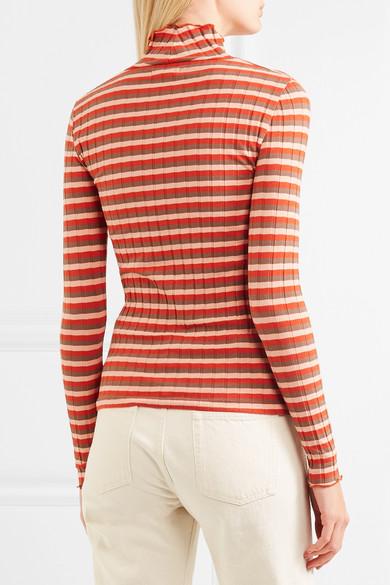 Madewell Gestreiftes Rollkragenoberteil aus geripptem Jersey aus Stretch-Baumwolle Manchester Große Online-Verkauf Cool 42Vvzs