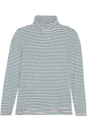Madewell Whisper striped cotton-jersey turtleneck top