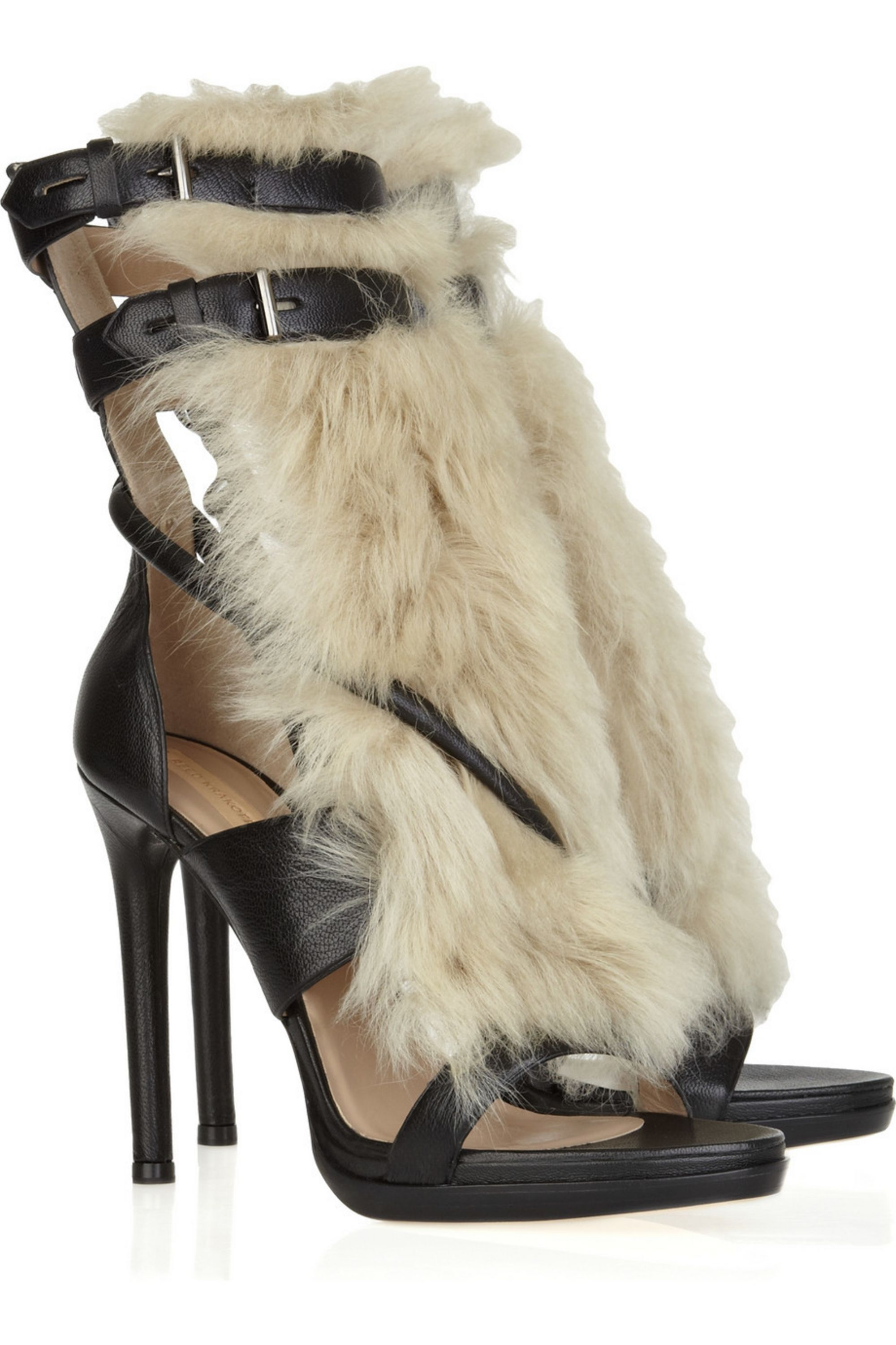 Reed Krakoff Leather and shearling sandals