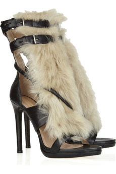 Reed Krakoff | Leather and shearling sandals | NET-A-PORTER.COM from net-a-porter.com