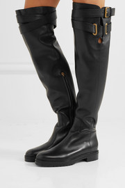 Valentino Leather over-the-knee boots