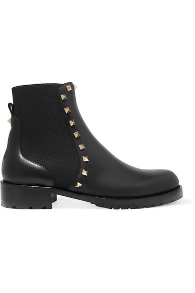 Valentino Rockstud Chelsea Boots aus Leder Erstaunlicher Preis Beste Authentisch Billig Verkauf Wahl OXCibj