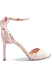 Valentino Crushed-velvet sandals