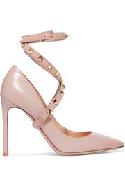 Valentino Valentino Garavani Studwrap leather pumps