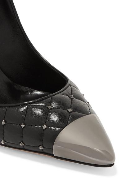 Valentino | Valentino aus Garavani Rockstud Pumps aus Valentino gestepptem Leder a4915c