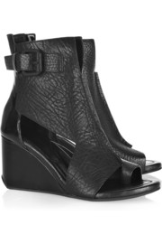 Raven cutout textured-leather boots