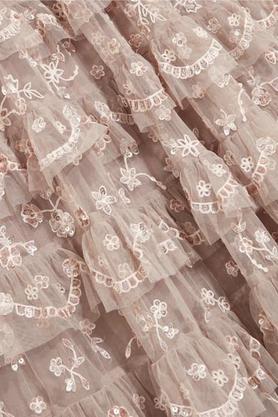 Needle & Thread Marie verzierte Robe aus Tüll mit Stufen Günstig Kaufen Modisch Verkaufen Sind Große Spielraum Store Billig Kaufen Bestellen sFmRZHYPTm