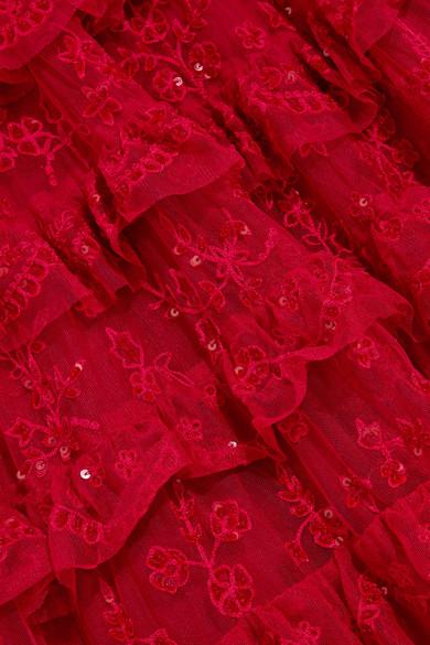 Needle & Thread Marie verzierte Robe aus Tüll mit Stufen