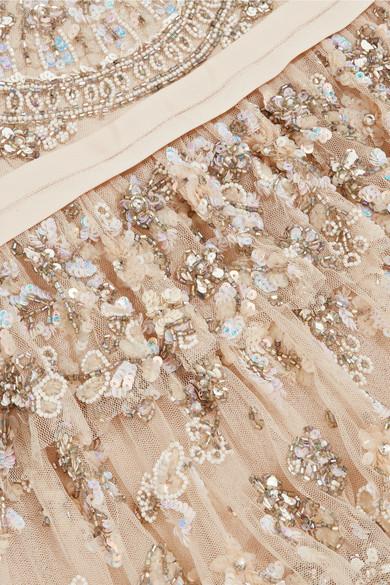 Needle & Thread Pearlescent gestufte Robe aus verziertem Tüll
