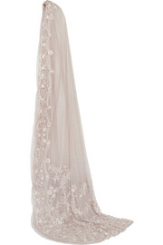 Marie embroidered tulle veil