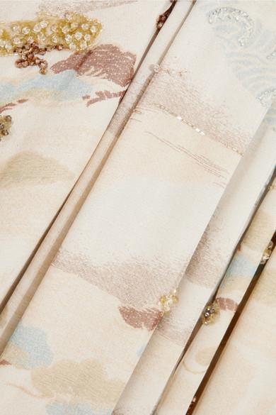 Giorgio Armani Verzierte Robe aus Tüll und Seidenorganza