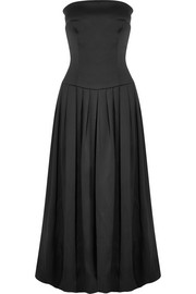Giorgio Armani Strapless silk midi dress
