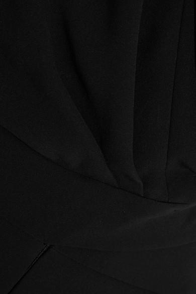 Giorgio Armani Verzierter Jumpsuit aus Crêpe aus einer Seidenmischung mit Satinbesätzen