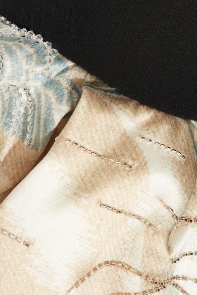 Giorgio Armani Verzierte Seidenjacke mit Schößchen und Rüschen