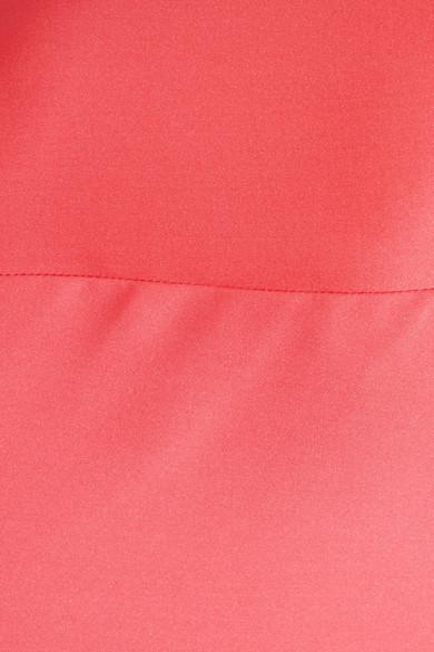 Giorgio Armani Schulterfreie Robe aus Satin aus einer Seidenmischung