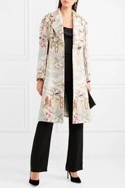 Giorgio ArmaniCrepe-paneled jacquard coat