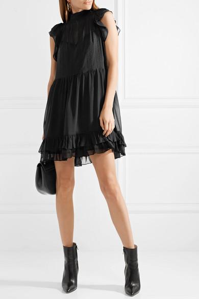 Ulla Johnson Remy Minikleid aus besticktem Seidenchiffon mit Rüschen