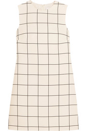 Valentino Checked crepe mini dress