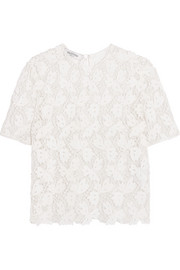 Valentino Cotton-blend corded lace top