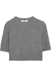 Valentino Cropped ribbed cashmere sweater