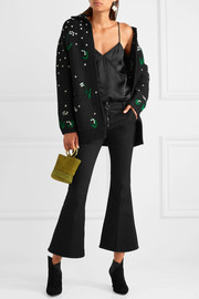 Valentino Oversized embroidered wool cardigan