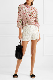 Valentino Cotton-blend guipure lace shorts