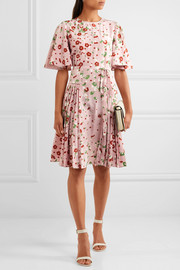 Valentino Floral-print silk crepe de chine dress