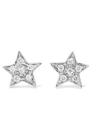 Superstellar 18-karat white gold diamond earrings