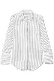 Equipment Rossi pinstriped cotton-poplin shirt