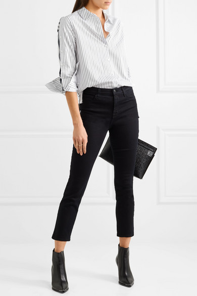 Equipment Rossi Shirt From Cotton Poplin With Pinstripes