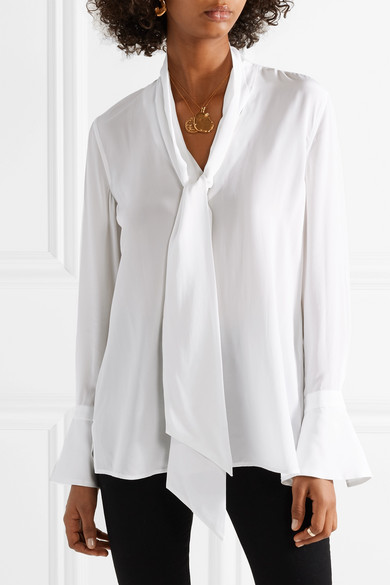 1330aa08c52315 Equipment | Jacqueleen washed-silk blouse | NET-A-PORTER.COM
