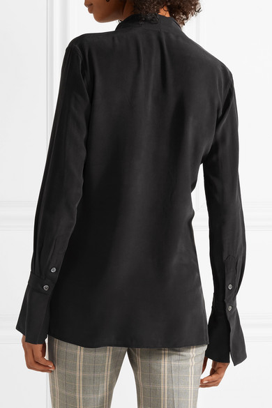 f2fd367f5f719f Equipment | Jacqueleen pussy-bow washed-silk blouse | NET-A-PORTER.COM