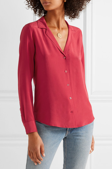 Equipment Adalyn Shirt From Pre-washed Silk