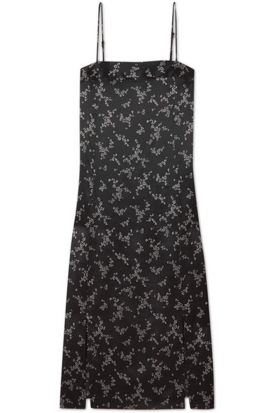 Equipment Kelby Kleid aus Seidensatin mit floralem Print