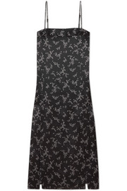Equipment Kelby floral-print silk-satin dress