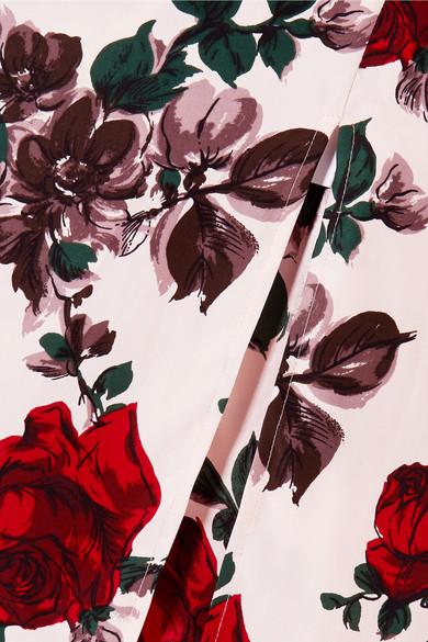 Equipment Kelby Midikleid aus vorgewaschener Seide mit floralem Print