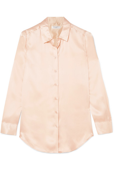 Equipment Essential Hemd aus vorgewaschenem Seidensatin