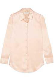 Essential washed silk-satin shirt