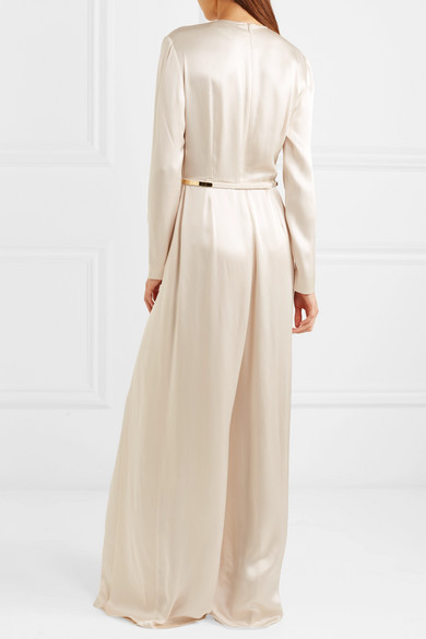 8d175d4fcedf Stella McCartney. Belted pleated satin jumpsuit. £1