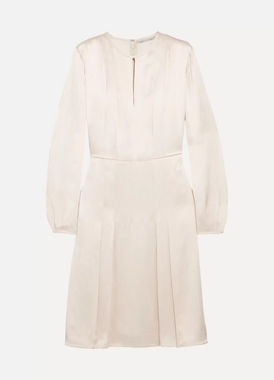 Stella McCartney - Pleated Satin Dress - Ecru