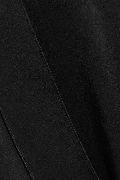 Stella McCartney Oberteil aus Satin mit asymmetrischer Schulterpartie