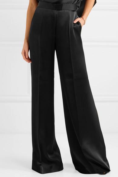 Stella McCartney Hose mit weitem Bein aus Satin