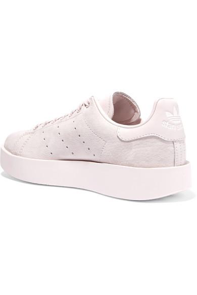 adidas Originals Stan Smith Bold Sneakers aus Veloursleder mit Lederbesätzen
